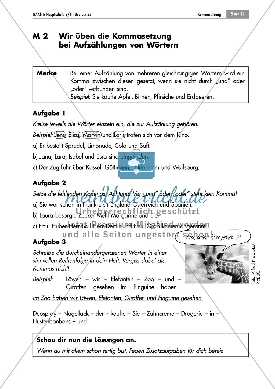 Lernzirkel zur Kommasetzung bei Aufzählungen Preview 4