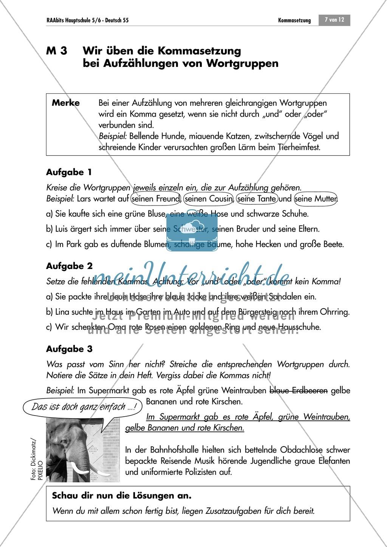 Lernzirkel zur Kommasetzung bei Aufzählungen Preview 6