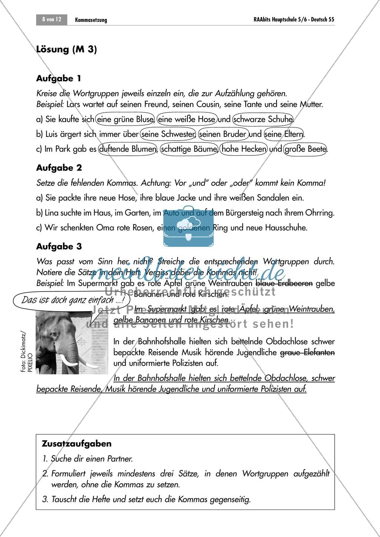 Lernzirkel zur Kommasetzung bei Aufzählungen Preview 7