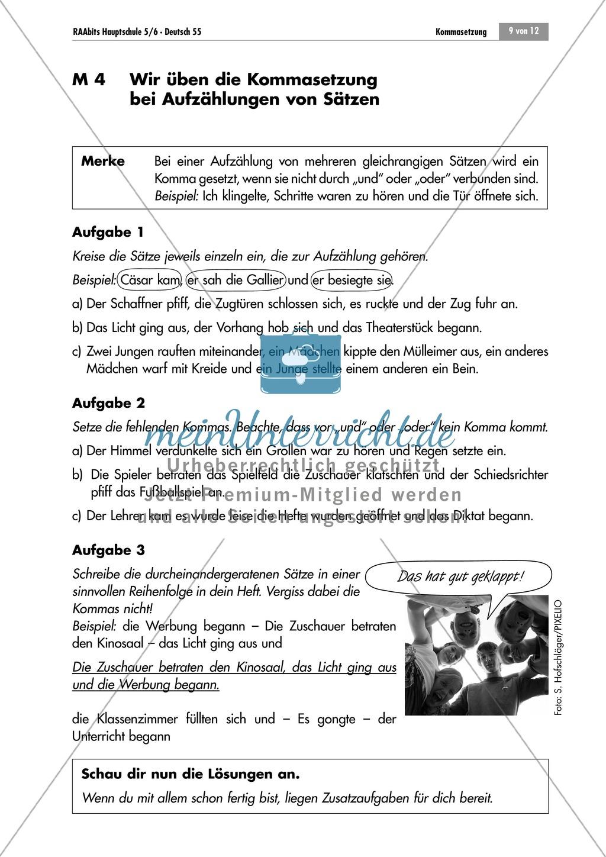 Lernzirkel zur Kommasetzung bei Aufzählungen Preview 8