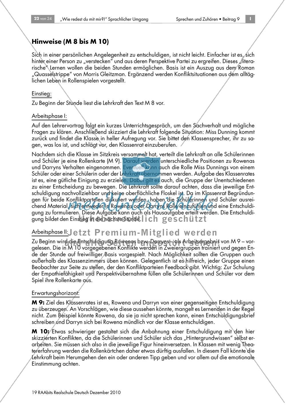 """Konflikte sprachlich lösen am Beispiel des Jugendbuchs """"Quasselstrippe"""" Preview 4"""