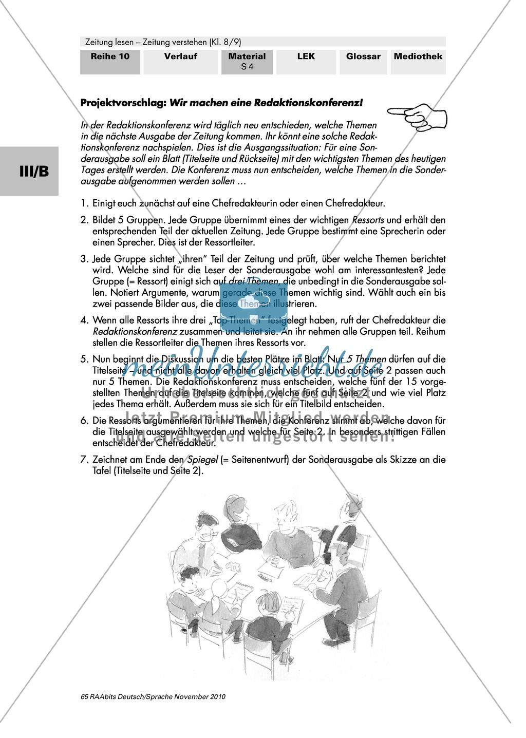 Wie arbeitet ein Zeitungsverlag? Tageszeitungen in Deutschland, Aufbau eines Verlags und die Einteilung in Ressorts Preview 4