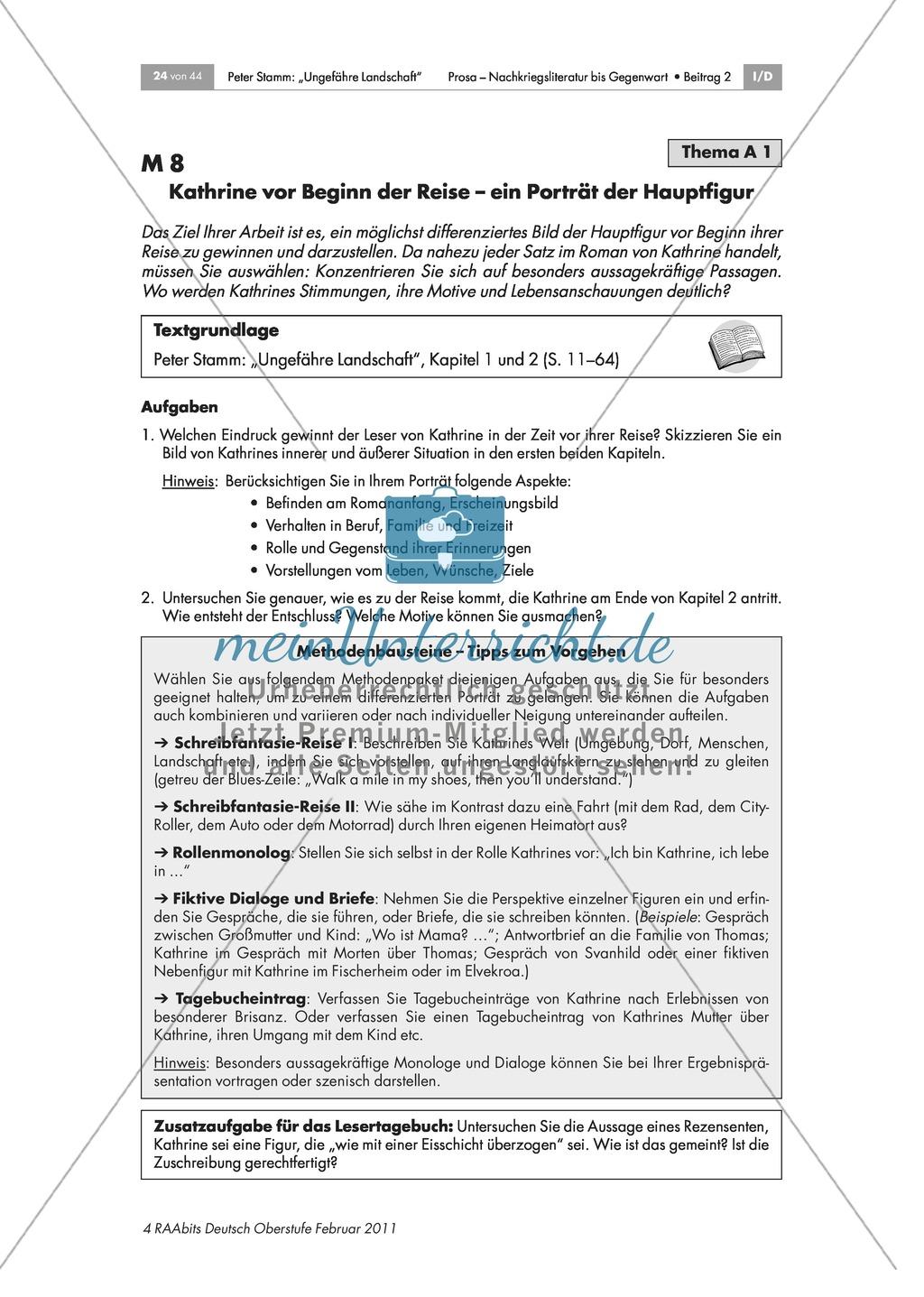 Inhaltliche und formale Analyse des Romans - Arbeit in Expertengruppen Preview 1
