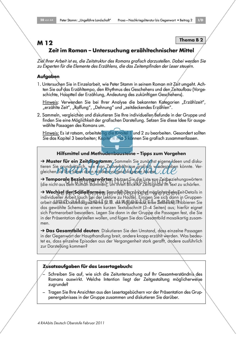 Inhaltliche und formale Analyse des Romans - Arbeit in Expertengruppen Preview 5