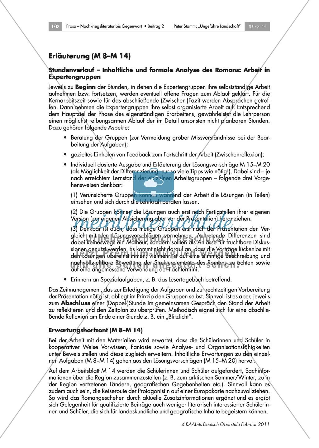 Inhaltliche und formale Analyse des Romans - Arbeit in Expertengruppen Preview 8