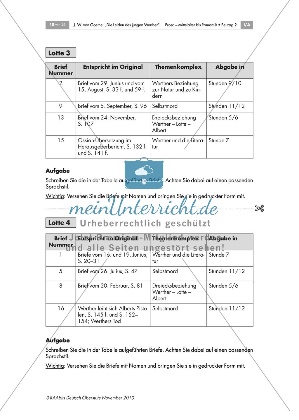 Charakterisierung Lottes und Vorstellung des Romanprojekts Preview 2