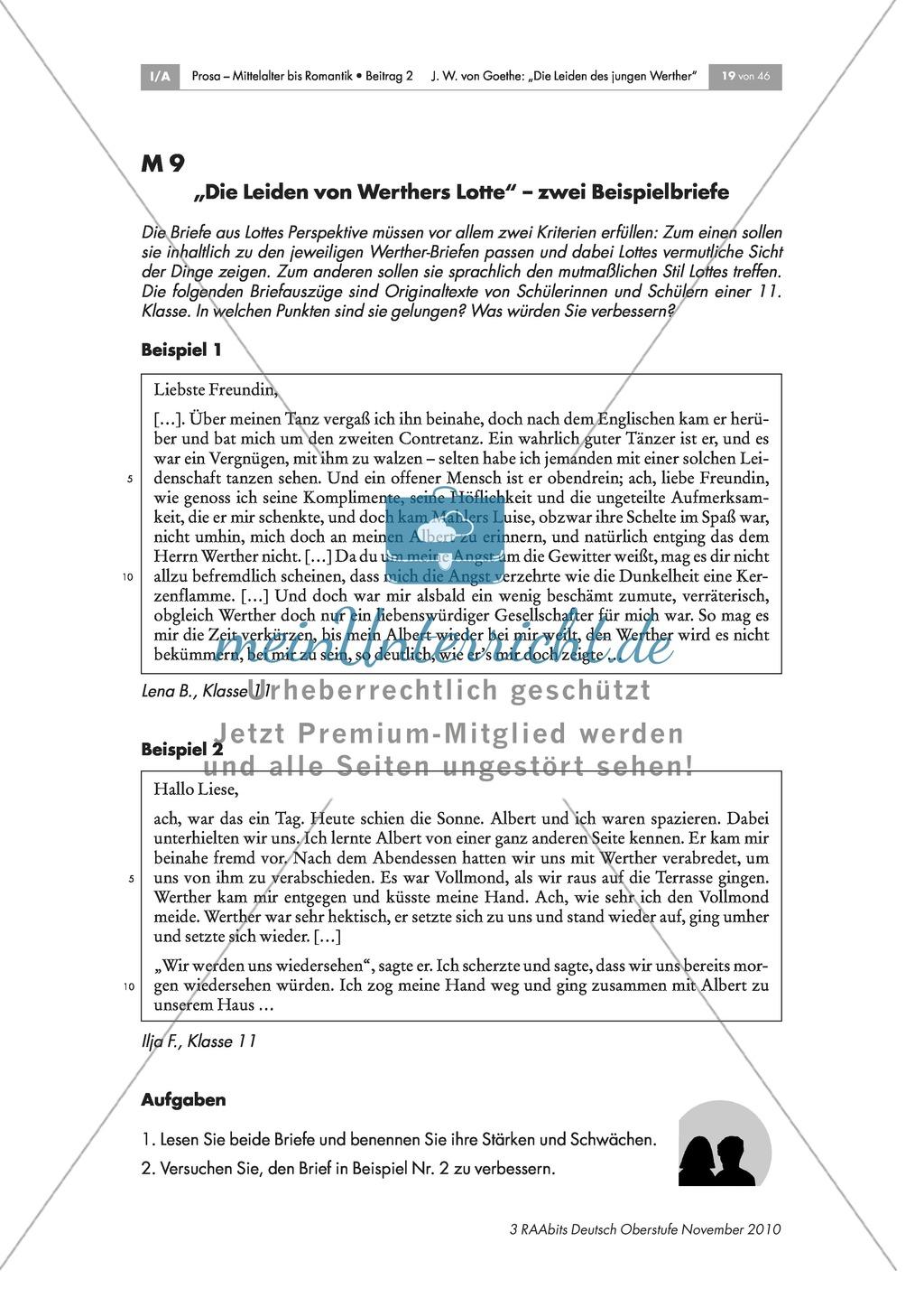 Charakterisierung Lottes und Vorstellung des Romanprojekts Preview 3