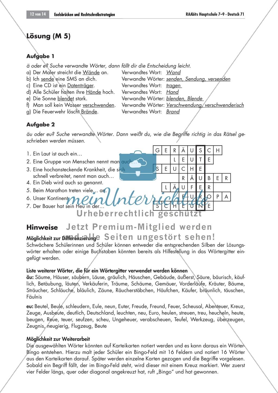 Eselsbrücken und Rechtschreibstrategien Preview 11