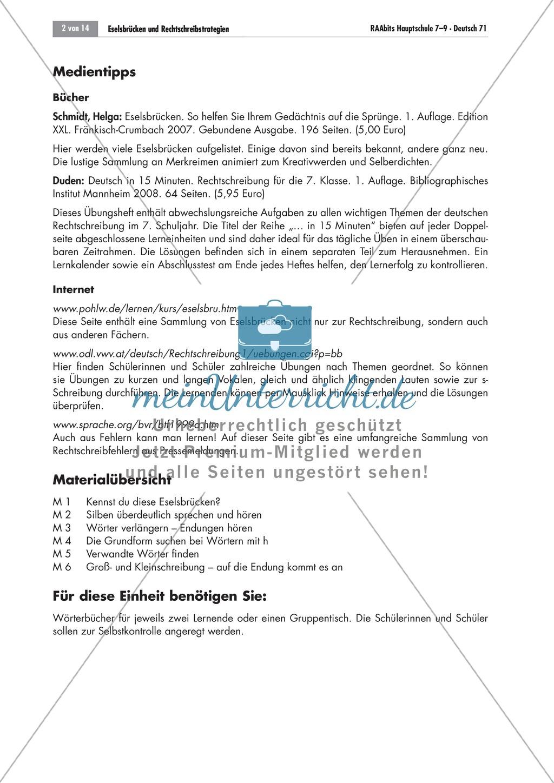 Eselsbrücken und Rechtschreibstrategien Preview 1