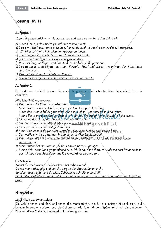 Eselsbrücken und Rechtschreibstrategien Preview 3