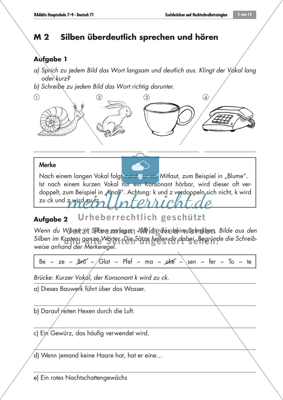 Eselsbrücken und Rechtschreibstrategien Preview 4