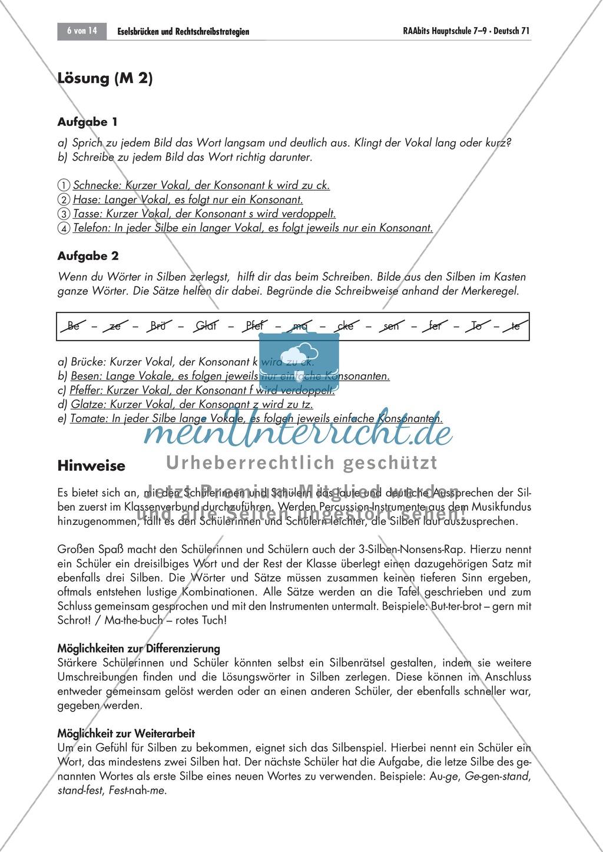 Eselsbrücken und Rechtschreibstrategien Preview 5