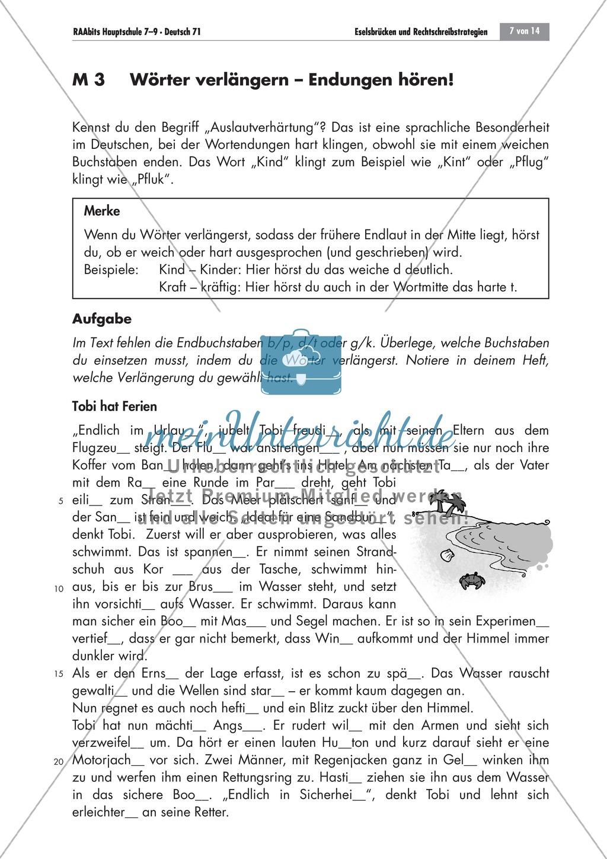 Eselsbrücken und Rechtschreibstrategien Preview 6