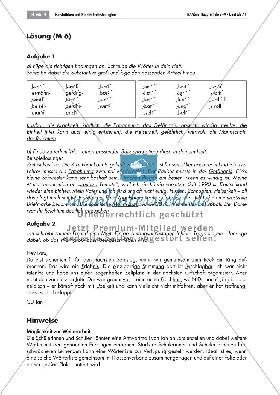Rechtschreibstrategien: Groß- und Kleinschreibung Preview 1