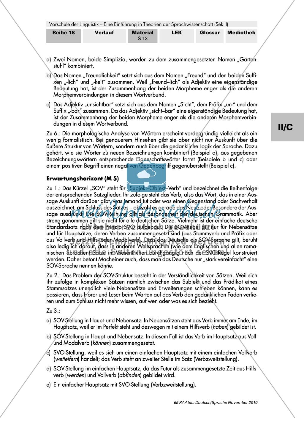Einführung in die Sprachwissenschaft: Methoden der Linguistik auf Wort- und Satzebene kennenlernen und nachvollziehen Preview 5