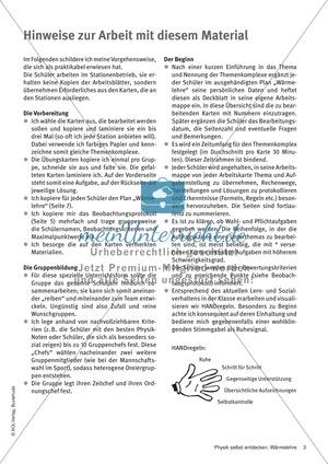 Arbeitsblätter für Physik in Klasse 7 | meinUnterricht.de