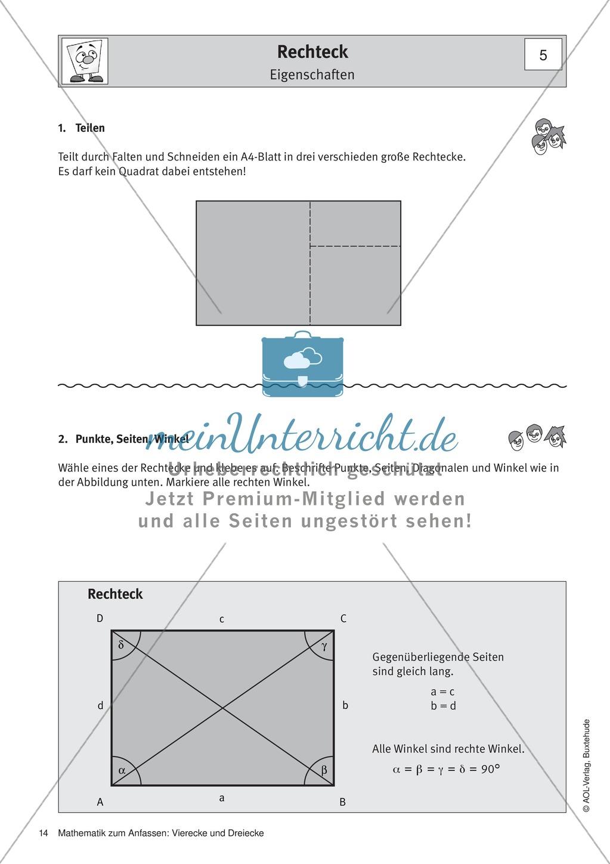 Ziemlich Gebiet Der Vierecke Und Dreiecke Arbeitsblatt ...