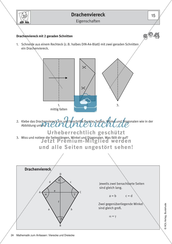 Fine Eigenschaften Der Dreiecke Und Vierecke Arbeitsblatt Collection ...