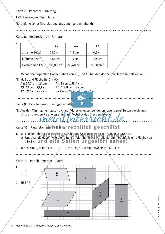 Parallelogramm: Eigenschaften, Flächeninhalt. Flächengleiche ...