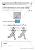 Tangram: Beispiele und Ausschneidebogen Preview 1
