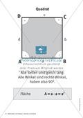 Merkblätter zu Vierecken:  Flächeninhalte und Umfang Preview 1