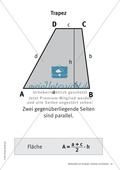 Merkblätter zu Vierecken:  Flächeninhalte und Umfang Preview 4