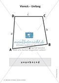 Merkblätter zu Vierecken:  Flächeninhalte und Umfang Preview 7