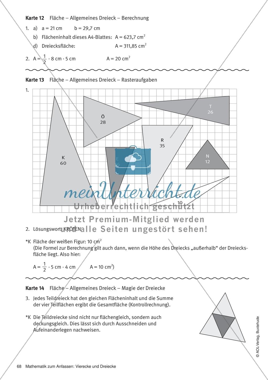 Stationenlernen zu Dreiecken: Kongruenzsätze und ...