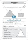 Mathematik, Geometrie, Dreieck, geometrische Figuren, Konstruktion, Kongruenzsatz, arbeitsblätter