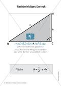 Mathematik, Geometrie, Dreieck, geometrische Figuren, fläche, merkblätter