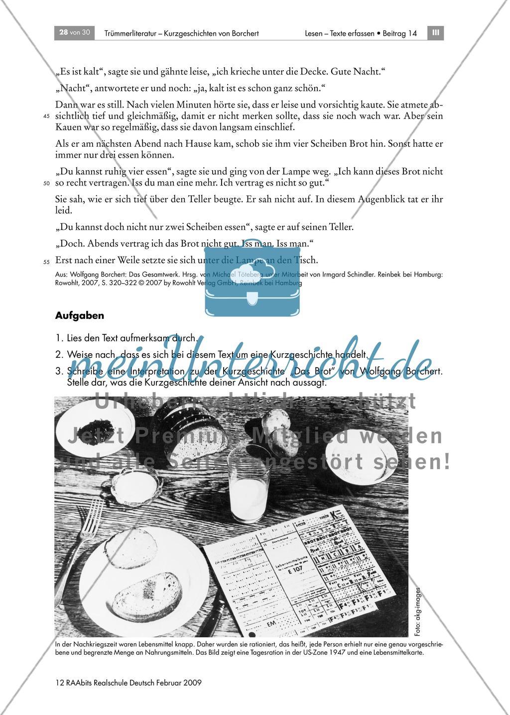 Merkmale und Interpretation von Borcherts