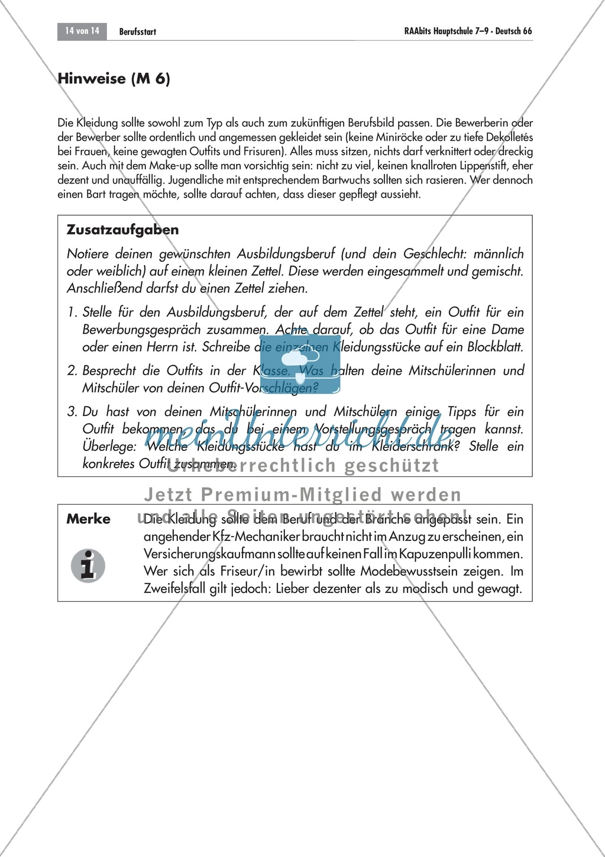 Berufsvorbereitung: Bewerbungstraining Preview 13