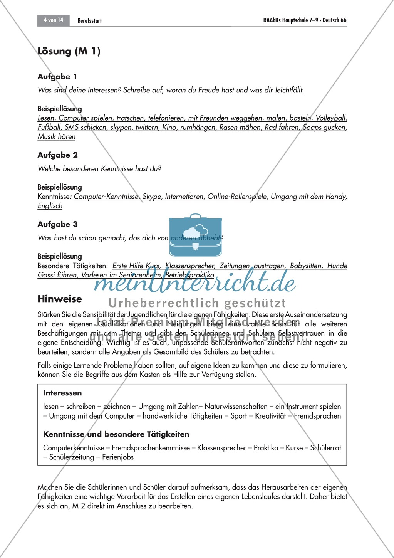 Berufsvorbereitung: Bewerbungstraining Preview 3