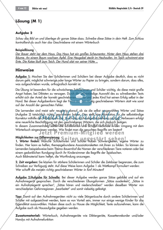 Strategien zum korrekten Schreiben: Eigen- und Laufdiktat Preview 1
