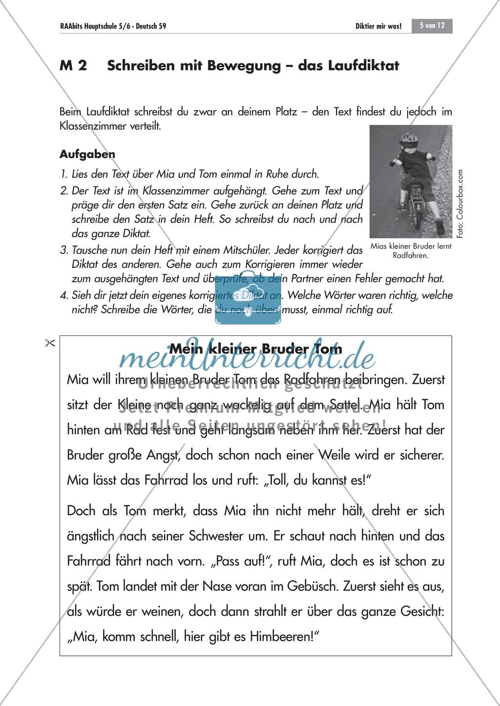 Strategien zum korrekten Schreiben: Eigen- und Laufdiktat Preview 2