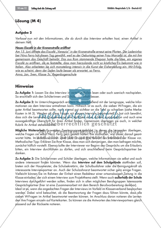 Die Zeitung als Informationsmedium: Struktur + Inhalt + Verfassen von Zeitungsartikeln Preview 7