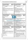 Mathematik, Zahlen & Operationen, Grundrechenarten, schriftliches Rechnen