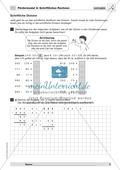 Mathematik, Zahlen & Operationen, Grundrechenarten, schriftliches Rechnen, Division