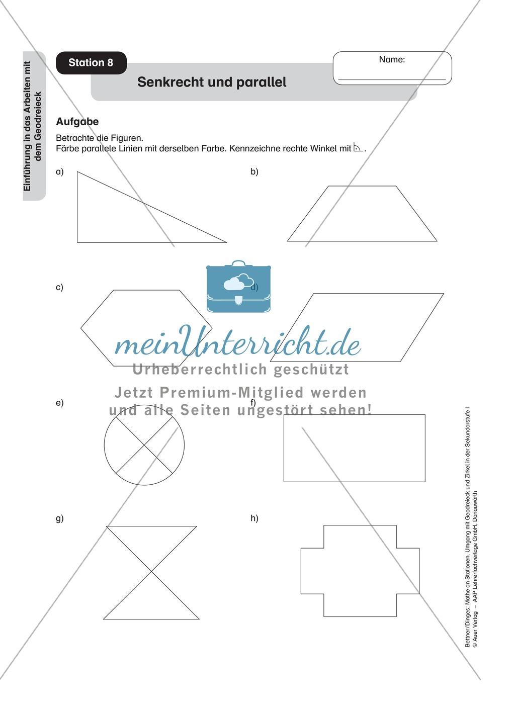 Funky Parallele Linien Arbeitsblatt Pattern - Mathe Super Lehrer ...
