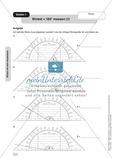 Mathematik, Raum & Form, Größen & Messen, Geometrie, Zeichen, Messen, Geodreieck