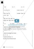 Vorschläge für eine Klassenarbeit zum Thema Terme und Gleichungen Preview 8