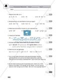 Vermischte Übungen zu Termen und Gleichungen, zum Teil unter Anwendung der binomischen Formeln Preview 2
