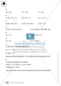 Vermischte Übungen zu Termen und Gleichungen, zum Teil unter Anwendung der binomischen Formeln Preview 6