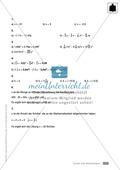 Vermischte Übungen zu Termen und Gleichungen, zum Teil unter Anwendung der binomischen Formeln Preview 7