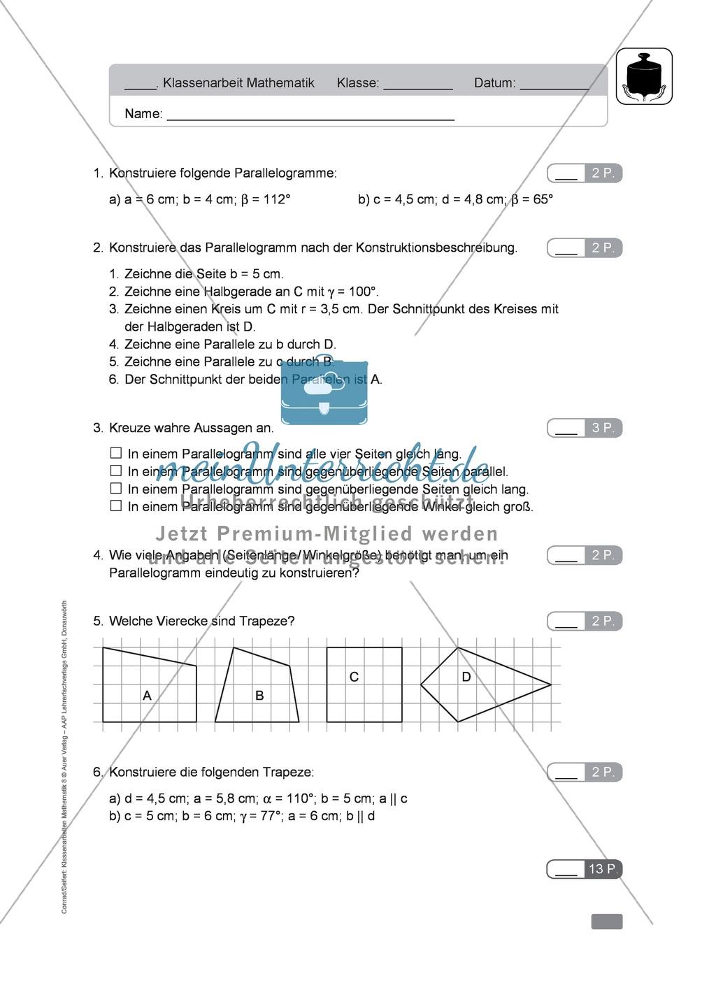Luxury Geometrie Arbeitsblatt Drachen Und Trapeze Antworten Picture ...