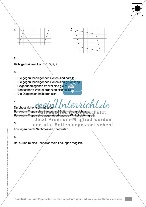 Aufgaben zur geometrischen Konstruktion von Vielecken - meinUnterricht