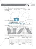 Aufgaben und Beispiele zur Berechnung des Flächeninhalts von Parallelogramm, Dreieck und Trapez Preview 2