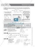 Aufgaben und Beispiele zur Berechnung des Flächeninhalts von Parallelogramm, Dreieck und Trapez Preview 5