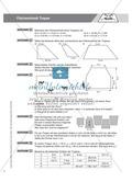 Aufgaben und Beispiele zur Berechnung des Flächeninhalts von Parallelogramm, Dreieck und Trapez Preview 6