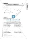 Stationenlernen zum Satz des Pythagoras, mit Memory und Kreuzworträtsel Preview 14